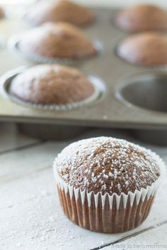 These Gingerbread Muffins are bursting with the classic holiday blend of spices.