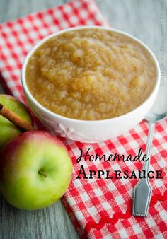 Homemade Applesauce - Carrie's Experimental Kitchen-Make your own Homemade Applesauce with fresh picked apples, sugar and spices. The best part is you can make it chunky or smooth, just the way you like it. Apple Desserts, Apple Recipes, Baby Food Recipes, Fall Recipes, Cooking Recipes, Cookbook Recipes, Health Desserts, Pumpkin Recipes, Vegan Desserts