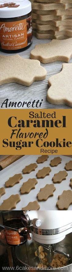 Salted Caramel No Chill No Spread Sugar Cookies! #recipe #saltedcaramel #sugarcookies #nospread #amoretti