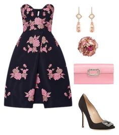 A fashion look from October 2016 featuring embroidery dresses, slip on shoes and red purse. Fashion Beauty, Women's Fashion, Fashion Outfits, Theatre Outfit, Naeem Khan, Stitch Fix Outfits, Evening Dresses, Formal Dresses, Roger Vivier