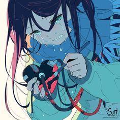 Sorrow Repost with credits Concep Anime Triste, Dark Art Illustrations, Illustration Art, Sun Projects, Anime Crying, Sad Drawings, Sad Anime Girl, Deep Art, Arte Obscura