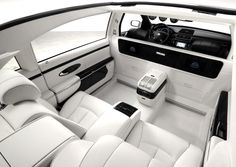 Maybach 62 Landaulet.  $1.4 million.  The Grand Nappa Leather seats recline like it was a private plane and two sterling silver champagne flutes come standard.  Ultimate of Ultimates