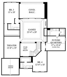 House Plans With Second Floor Sitting Room on renaissance tower floor plan