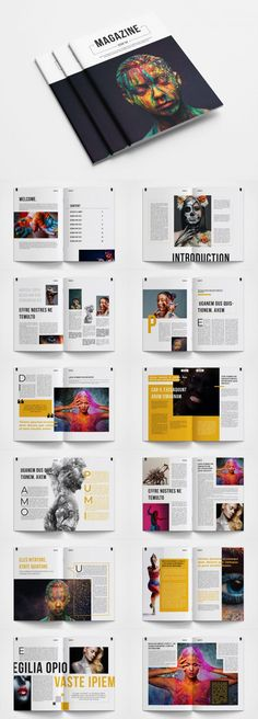 Magazine Page Design, Magazine Page Layouts, Magazine Design Inspiration, Graphic Design Inspiration, Magazine Cover Layout, Design Portfolio Layout, Page Layout Design, Graphic Design Layouts, Graphic Design Posters