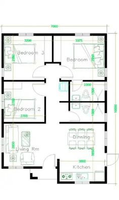 Small House Floor Plans, Family House Plans, New House Plans, Modern House Plans, Sims House Plans, House Layout Plans, Modern Bungalow House, Bungalow House Plans, 30x50 House Plans