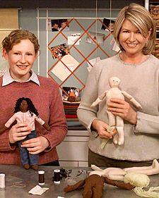 Doll making how-to with pattern link included.