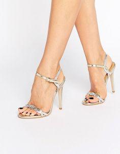 8966e489a36 Public Desire Annabelle Twist Heeled Sandals. Public Desire Annabelle Twist Heeled  Sandals - Silver
