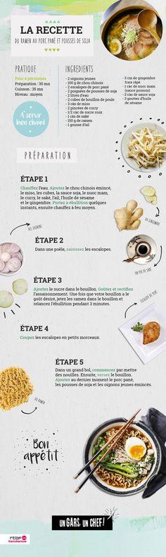 Recette : le ramen au porc pané d'Un Gars, un Chef ! - RTBF Cuisine