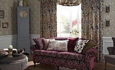 iliv new Moorland range of fabrics - inspired by the British moorland, countryside, heather Rooms Home Decor, Living Room Decor, Drapery Fabric, Curtains, English Cottage Style, Matching Wallpaper, English Interior, Free Fabric Samples, Curtain Patterns