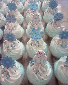 Winter Wonderland Christmas Cupcakes