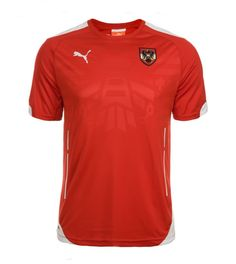 Austria Mens Authentic Puma Red Home 14/15 Stadium Medium Soccer Jersey