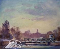 """""""Approaching Lockport Lift Bridge"""" by Jeffrey Watkins has been entered into our October Featured Artist Contest. Go here to vote: http://woobox.com/rxt9b9"""