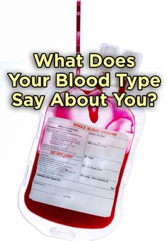 how to know blood type by personality