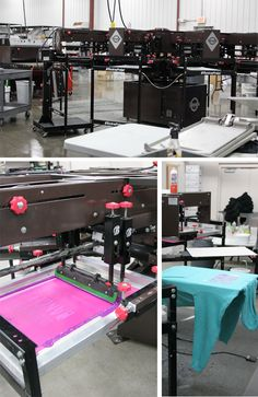 Screen Printing - Screen printing first appeared in a recognizable form in China during the Song Dynasty (960–1279 AD). The equipment has changed a little from then. At The Teehive we have a top of the line 10 station automatic screenprinter that allows us to print very high quality graphics with great precision and speed. No job is to large for this screen print machine. We have done jobs of over 10,000 shirts!