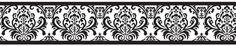 Black and White Damask Wallpaper Border Isabella by Sweet Jojo Designs