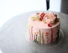#spring 봄이여서 봄스럽게 담아본 디자인 빈티지 가든 드로잉 #바닐라클라우드 청담동 42_1 #강남구청역 #vanillacloud We make special cake for special person #cake#dessert#sweets#케이크#케익#디저트#생일#선물#디저트스타그램#맛스타그램#먹스타그램#주문케익#베이킹#베이킹클래스#premiumcake#cakedesigner#baking#bakingclass#dessertshop#patissier#ordermade#cupcake - 28, Seolleung-ro 132-gil, Gangnam-gu, Seoul, Korea