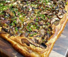 Authentic Suburban Gourmet: Mushroom Tart with Black Truffle Oil