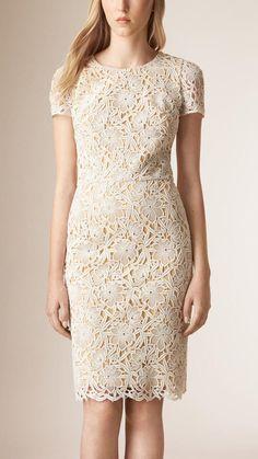 Burberry Prorsum Floral Macramé Lace Dress