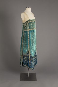 1926; French; Evening Dress by Callot Soeurs - Fox Historic Costume Collection