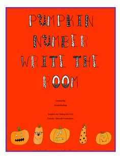 Pumpkin Number Write the Room