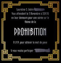 invitation soirée prohibition