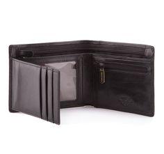 klasyczny skórzany męski portfel
