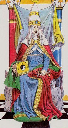 II. The High Priestess - Wirth Moderno - Tarocchi Ermetici by Sergio Toppi