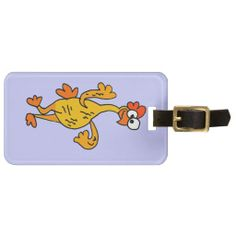 Funny Dancing Rubber Chicken Tag For Bags #rubber #chicken #funny #luggagetag #dancing And www.zazzle.com/tickleyourfunnybone*
