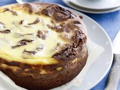 Gemarmerde chocolade-cheesecake (Libelle Lekker!)