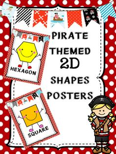 Pirate Themed Shapes Posters