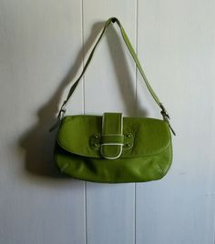 Franco Sarto Satchel Purse Lime Green Pebbled Leather Bag in Clothing, Shoes & Accessories, Women's Handbags & Bags, Handbags & Purses | eBay