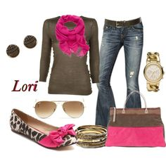 Pink and Brown Leopard :)
