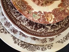 Brown Transferware for Thanksgiving. -Dirty Dishes Collection