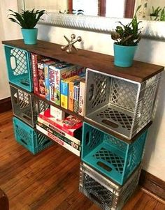 Dishfunctional Designs: Milk Crate Magic: Neat Things You Can Make With Upcycled Milk Crates Fun ideas for DIY upcycled milk crate furniture and home decor made from repurposed milk crates. New Classroom, Classroom Setup, Classroom Design, Classroom Storage Ideas, Diy Classroom Decorations, Art Classroom Layout, Classroom Flexible Seating, Classroom Cubbies, Teacher Storage