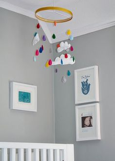 Great idea for a mobile, and the rest of the nursery is fantastic.