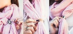 3 Ways to Tie A Scarf With A Ring