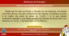 """MISIONEROS DE LA PALABRA DIVINA: MEDITACIÓN DEL EVANGELIO - """"Jesús lo tocó diciendo..."""