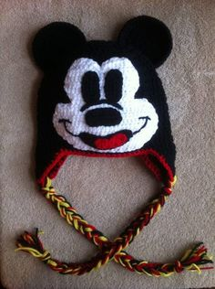 Mickey Mouse Hat (Sizes 12 months and up). $28.00, via Etsy.