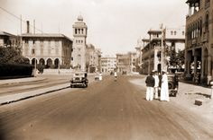 Heliopolis, circa 1930's Rare Photos, Old Photos, Old Egypt, Donia, Vintage Pictures, Cairo, Alexandria, Dream Vacations, Middle East