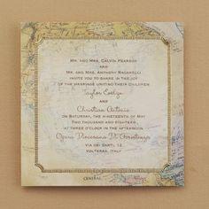 Occasions to Blog: Travel Theme Wedding Invitations (Invitation Link - http://occasionsinprint.carlsoncraft.com/3214-MM13360-Global-Romance--Invitation.pro)