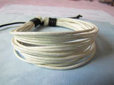 ropes Adjustable Surf Hemp Leather Bracelet Wristband Mens Womensby sevenvsxiao, $3.50