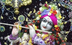 To view Gopinath Close Up Wallpaper of ISKCON Chowpatty in difference sizes visit - http://harekrishnawallpapers.com/sri-gopinath-close-up-wallpaper-019/