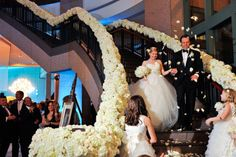 Grand entrance on the Rotunda surrounded by beautiful flowers!