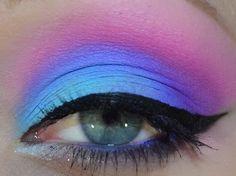 ✝☮✿★ MAKEUP ✝☯★☮ Teal Eyeshadow, Eyeshadow Looks, Eyeshadow Makeup, Hair Makeup, Makeup Inspo, Makeup Inspiration, Makeup Ideas, Pastel Makeup, Candy Makeup