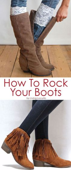 Hooray for boots weather! Boots go with almost every outfit, and they keep you warm to boot (pun intended). Pair them with jeans, leggings, dresses, or skirts. Ankle boots look great with rolled up skinny jeans. Get a flat style if you're on your feet all day, or opt for a cute wedge. Wear tall riding boots with a sweater dress for a night on the town. Fur boots give off a stylish winter vibe; add a scarf and your look is complete. Read on as eBay helps you rock boots this winter.