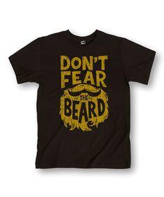 Look at this #zulilyfind! Black 'Don't Fear The Beard' Tee #zulilyfinds