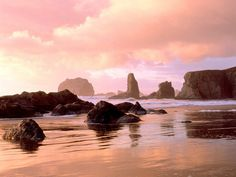 Bandon, OR - I've walked this beach at sunset and sunrise and in between- many many times....it's a spiritual home away from home for me.