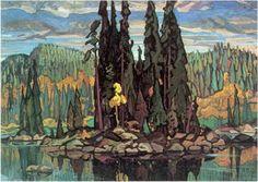 Arthur Lismer, Isles of Spruce, 1922 Group of Seven Group Of Seven Artists, Group Of Seven Paintings, Canadian Painters, Canadian Artists, Landscape Art, Landscape Paintings, Landscapes, Ontario, Painting Inspiration