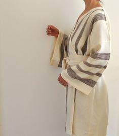 Bridesmaids Robes Set of 5 Kimono Robes Peshtemal Bathrobe Bath Robe Turkish Bath Towel Extra Soft Cotton Obi Belt Brown Striped Outfit Essentials, Turkish Bath Towels, Obi Belt, Bridesmaid Robes, Bridesmaids, Lingerie, Piece Of Clothing, Black Stripes, Trending Outfits