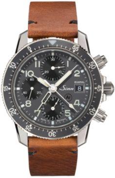 5c9d34a4a Sinn Watch 103 St Diapal Vintage Cowhide Brown #add-content  #bezel-unidirectional